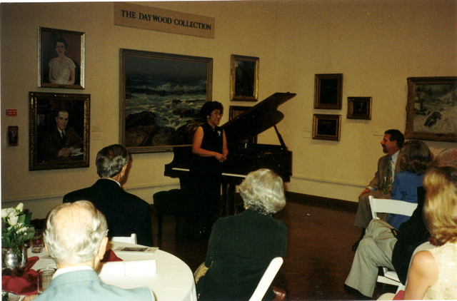 Victoria Bragin performing for Museum donors
